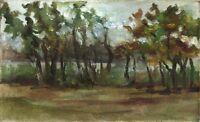"""Russischer Realist Expressionist Öl Leinwand """"Unwetter"""" 50x30 cm **"""