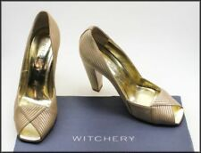 Special Occasion Leather Pinstripe Heels for Women