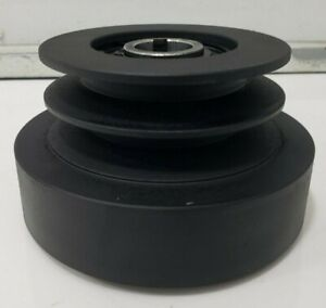 """Centrifugal Clutch V belt compactor 1"""" shaft packer 4"""" double pulley Saw Mill"""