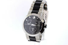 Men's Movado 0606546 Verto Two-Tone Stainless Steel Black Dial Chronograph Watch