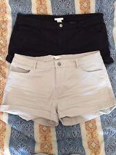 H&M shorts pantaloni x2 neri e beige ita 46 / 48 - eur 44 - us 14 - uk 16