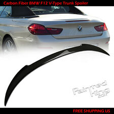 Carbon Fiber BMW 6 Series F12 V Style Convertible Rear Trunk Spoiler Wing
