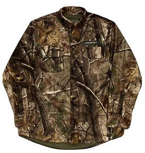 NEW! MEDALIST HUNTGEAR X-Static SilverMax Scent Elim. Lined Fleece Shirt Jac  LG