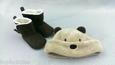 Baby: Baby Toddler Bear Hat and Brown Boots sz: 3 mo - 9 mo Light Brown Guc