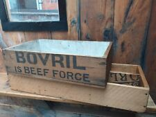More details for 2 antique wooden box creates/advertising boxes bovril orlando jones cream starch