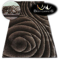 "SOFT AND FLUFFY RUGS SHAGGY ""SPACE 3D"" HIGH QUALITY GLOSSY SILKY CARPETS"