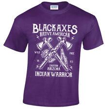 los niños negro Axes Camiseta infantil Retro Nativo Warrior Arizona EUA
