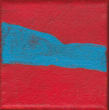 Art Abstract Painting Red Blue Wall Decor Artist with Autism