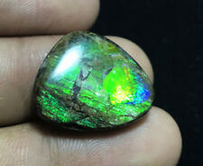LOVELY 14.65 CARATS NATURAL CANADIAN AMMOLITE FREEFORM CABOCHON 17x21x4.7MM