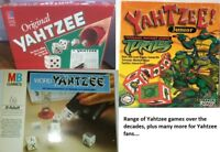 YAHTZEE BOARD DICE GAME - MB GAMES / PARKER  1970S / 1980S / 1990S / 2000S