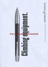 """Parker Pen """"Climbing Equipment"""" 2005 Magazine Advert #2673"""