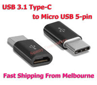 USB-C USB3.1 Type-C Male to Micro USB Female Converter Adapter Connector au oz
