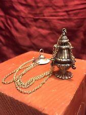 4 cm incensiere argento turibolo cesellato incisione Botafumeiro Presepe