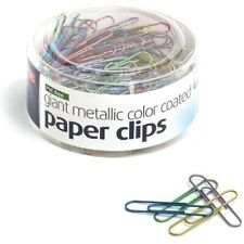Officemate Pvc Free Assorted Color Coated Giant Paper Clips 200 Tub 97226