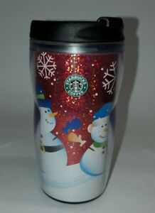 2004/2005 Kids Starbucks Hallographic Christmas Snowman Tumbler 8 Oz