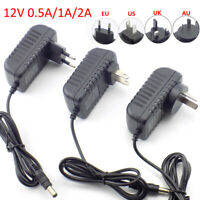 DC AC 12V 500ma 1A 2A 3A Power Supply Adapter Transformer LED Strip light CCTV