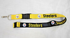 USA SHIP Pittsburgh Steelers Lanyard ID Badge Holder Breakaway Clip Keychain
