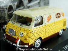 FIAT 600 MODEL VAN TRE ROSSI 1957 1:43 SCALE FURGONE IXO K8967Q