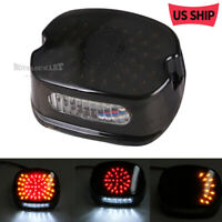 Smoke LED Tail Light Indicator Brake Turn Signals For Tour Electra Glide Dyna US
