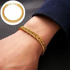 Punk Statement Gold Bracelet Men's Women Bangle Hip-hop Cuff Chain Jewelry Gift