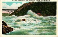 Vintage Postcard - The Big Wave In Whirlpool Niagara Falls New York NY #3704