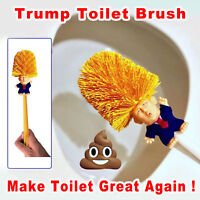 Donald Trump Toilet Brush Funny Gag Gift Bowl Brush Hand Made Christmas Xmas Toy