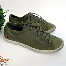 Softinos By Fly London Womens 37 Us Size 7 Isla Suede Sneaker Green NEW $195