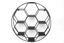 Black Metal Round Retro Display Cabinet Multi Shelf Hexagon Storage Wall Unit