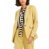 Bar III Women's Career-Wear One-Button Blazer Jacket, Gold, Size 12, $119, NwT