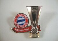 Pin Anstecker FC Bayern München Jubiläum 1996 Europa League Cup UEFA Cup Pokal