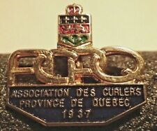 Curling Pin - Association Des Curlers Province De Quebec ACPQ 1937