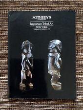 RARE 1988 Sotheby's Auction Catalog: Important Tribal Art, November 15, New York