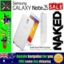 Samsung Galaxy Note 3 Clear Soft Gel TPU flexible clear fitted case cover skin