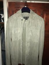 Men's All Saints Suede Jacket Green/khaki Unreal Condition Size X Small