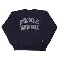 Vintage 90s Champion Sweatshirt Mens XL Middle Tennessee University College Blue