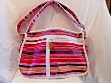 Amanda Smith Classic Striped Handbag Bag Purse  New Tags Multi Colors