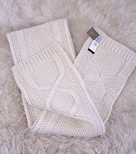 Nwt JCrew Knit Cable scarf in Italian wool blend Ivory HO '16 F8732