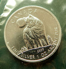 2011 CANADA Timber Wolf 1 oz 9999 pure silver BU - RCM sealed