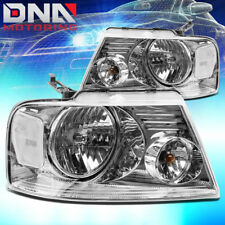 FOR FORD F150/F-150 2004-2008 EURO CHROME TINT HOUSING CRYSTAL CLEAR HEADLIGHTS