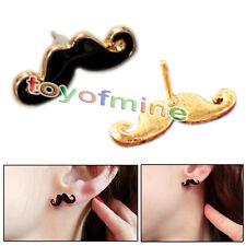 Retro Fashion Cute Moustache Beard Handlebar Earring Ear Stud