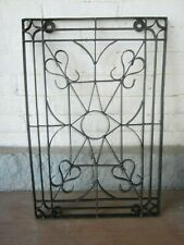 Vintage Wrought Iron Wall Decor Hanging Indoor Outdoor Hand made 24 x 16