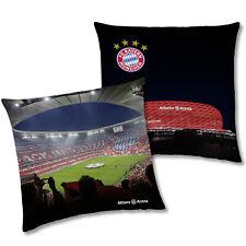FC Bayern München Allianz Arena Kissen 40x40 Dekokissen Kuschelkissen Fankissen