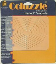 NEW - Coluzzle HEART Clear Template Quilt Sew Scrapbook Provo Craft