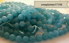 lot de 30  Perles naturelles quartz bleue 6mm