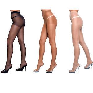 Sheer to Waist Support Pantyhose Spandex Stretch Hosiery Black Honey Nude 1923