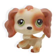 Littlest pet shop Tan Brown Cocker Spaniel Dog Puzzle Green Eyes LPS #No