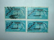 1963 Cavo Compac non Phosphor FRANCOBOLLI X 4 VFU (sg645) CV £ 10