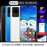 S30U+ 5G 6.7'' Téléphone Mobile Dual SIM Android Débloqué 8GB+512GB Smartphone