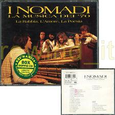 """I NOMADI """"LA MUSICA DEI '70"""" BOX DOPPIO CD LIBRETTO FOTO PRIMA STAMPA 1995"""