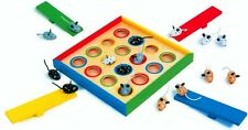 NEW Jumping Mouse Wooden Board Game.Traditional Family fun.Catapult Wood Mice
